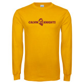 Gold Long Sleeve T Shirt-Calvin Knights One Line