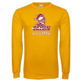 Gold Long Sleeve T Shirt-Alumni Knight Calvin