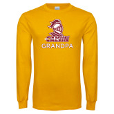 Gold Long Sleeve T Shirt-Grandpa Knight Calvin