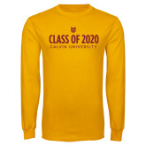 Gold Long Sleeve T Shirt-Class of 2020