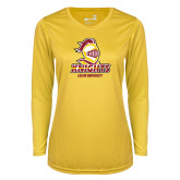 Ladies Syntrel Performance Gold Longsleeve Shirt-Knights with University