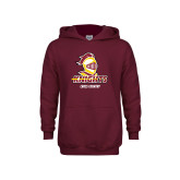 Youth Maroon Fleece Hoodie-Cross Country Stacked