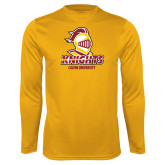Performance Gold Longsleeve Shirt-Knights with University