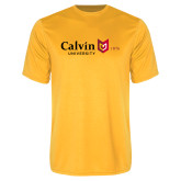 Performance Gold Tee-University Logo 1876 Horizontal