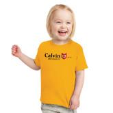 Toddler Gold T Shirt-University Logo 1876 Horizontal