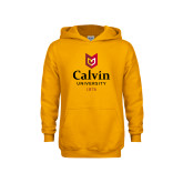 Youth Gold Fleece Hoodie-University Logo 1876 Vertical
