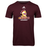 Adidas Climalite Maroon Ultimate Performance Tee-Knights with University