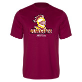 Performance Maroon Tee-Basketball Stacked