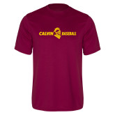 Performance Maroon Tee-Baseball Horizontal