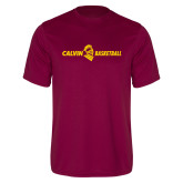 Performance Maroon Tee-Basketball Horizontal