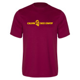 Performance Maroon Tee-Cross Country Horizontal