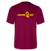 Performance Maroon Tee-Golf Horizontal