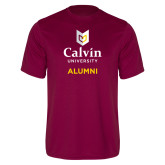 Performance Maroon Tee-Alumni University Logo Vertical