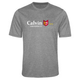 Performance Grey Heather Contender Tee-University Logo 1876 Horizontal