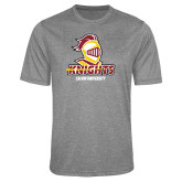 Performance Grey Heather Contender Tee-Knights with University