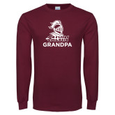Maroon Long Sleeve T Shirt-Grandpa Knight Calvin