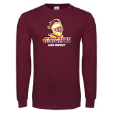 Maroon Long Sleeve T Shirt-Knights with University
