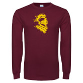 Maroon Long Sleeve T Shirt-Knight Head
