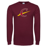 Maroon Long Sleeve T Shirt-Athletic C