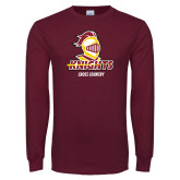 Maroon Long Sleeve T Shirt-Cross Country Stacked