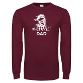 Maroon Long Sleeve T Shirt-Dad Knight Calvin