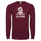 Maroon Long Sleeve T Shirt-Alumni Knight Calvin