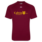 Under Armour Maroon Tech Tee-University Logo 1876 Horizontal
