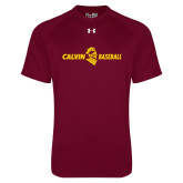 Under Armour Maroon Tech Tee-Baseball Horizontal