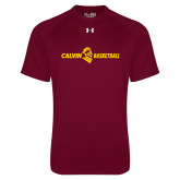 Under Armour Maroon Tech Tee-Basketball Horizontal