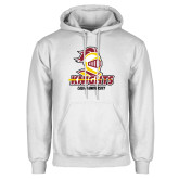 White Fleece Hoodie-Knights with University
