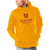 Under Armour Gold Armour Fleece Hoodie-University Logo 1876 Vertical