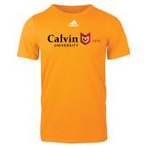 Adidas Gold Logo T Shirt-University Logo 1876 Horizontal