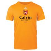 Adidas Gold Logo T Shirt-University Logo 1876 Vertical