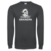 Charcoal Long Sleeve T Shirt-Grandpa Knight Calvin