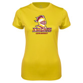 Ladies Syntrel Performance Gold Tee-Knights with University