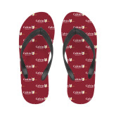 Ladies Full Color Flip Flops-University Logo 1876 Horizontal