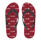 Full Color Flip Flops-University Logo 1876 Horizontal