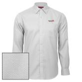 Red House White Diamond Dobby Long Sleeve Shirt-University Logo 1876 Horizontal