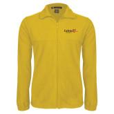 Fleece Full Zip Gold Jacket-University Logo 1876 Horizontal