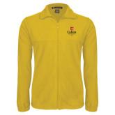 Fleece Full Zip Gold Jacket-University Logo 1876 Vertical