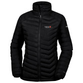 Columbia Powder Lite Ladies Black Jacket-University Logo 1876 Horizontal