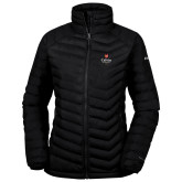 Columbia Powder Lite Ladies Black Jacket-University Logo 1876 Vertical