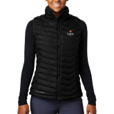 Columbia Lake 22 Ladies Black Vest-University Logo 1876 Vertical