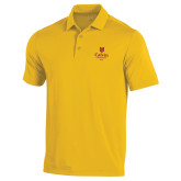 Under Armour Gold Performance Polo-University Logo 1876 Vertical