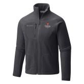Columbia Full Zip Charcoal Fleece Jacket-University Logo 1876 Vertical