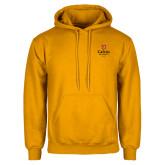 Gold Fleece Hoodie-University Logo 1876 Vertical