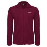 Fleece Full Zip Maroon Jacket-University Logo 1876 Horizontal
