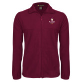 Fleece Full Zip Maroon Jacket-University Logo 1876 Vertical