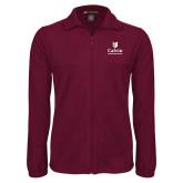 Fleece Full Zip Maroon Jacket-School of Business