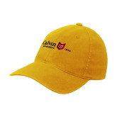 Gold Flexfit Mid Profile Hat-University Logo 1876 Horizontal